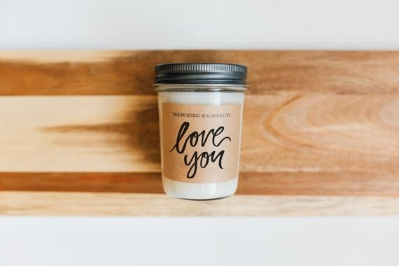 Love You hand-poured candle