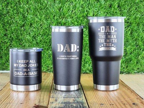 Customizable tumblers and mugs
