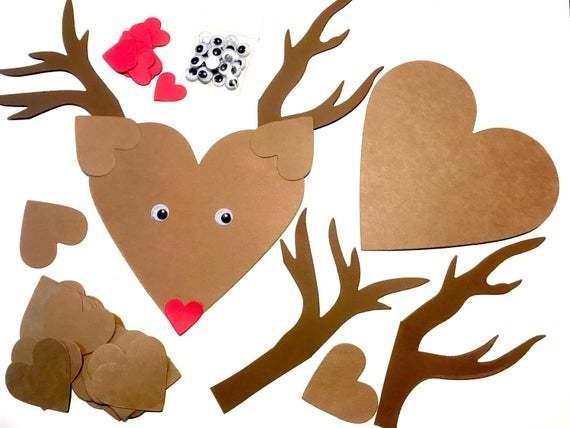 Reindeer paper crafts for children