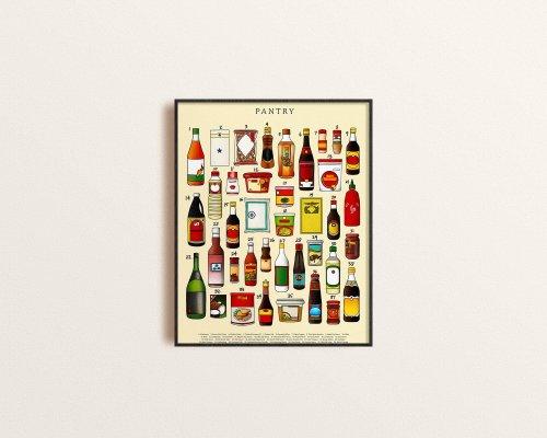 Art print of Asian pantry staples