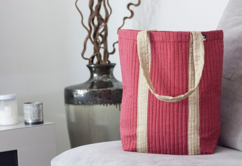 Plush tote supports a mother in India