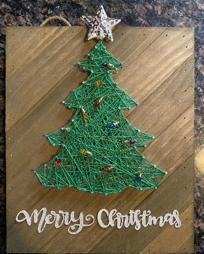 String art Christmas treee