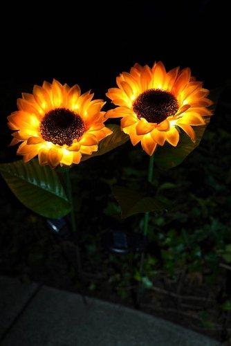 Save 10% on a sunflower solar LED light