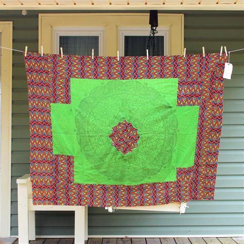 African print cotton quilt