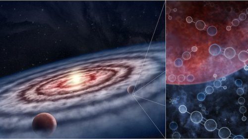 Identified Large Reservoirs Of Precursor Molecules Necessary For Life In The Birthplaces Of Planets