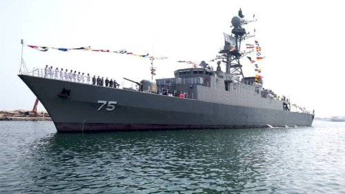Iran Navy Launches New Destroyer, Minesweeper