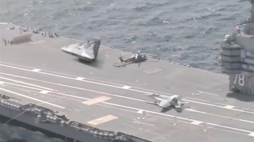 Iran Media Publishes UFO-Like Object Aboard US Aircraft Carrier, Speculates It's A TR-3 Black Manta