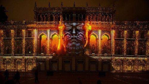 Beim Lichterfest in Baku wurden spektakuläre 3D-Projektionen gezeigt