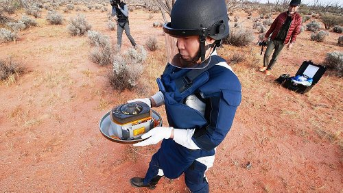 Capsule carrying first samples of asteroid subsurface recovered in Australia