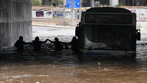 Dozens evacuated on Greek island of Evia after storms and floods