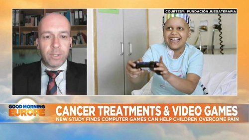 Computer games help children overcome pain from cancer treatment
