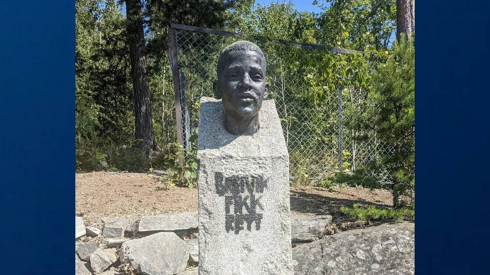 Racist murder memorial defaced as Norway remembers victims of 2011 far-right massacre