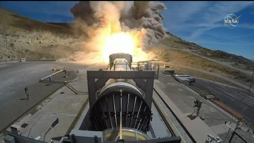 NASA fires booster in latest test for future moon rocket