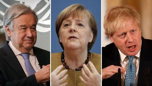 Guterres, Merkel and Johnson close in on Paris Agreement goals ahead of COP26