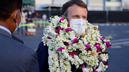 French president Macron visits former colonies in French Polynesia