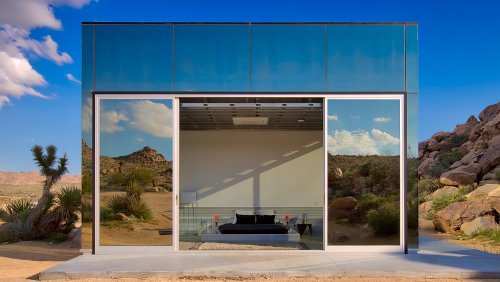 Tour the incredible holiday house that mirrors the Californian desert and has its own mountain