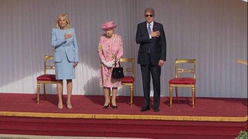 Isabel II recebe presidente dos Estados Unidos