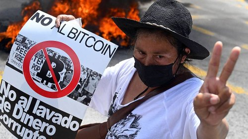 Bitcoin ATMs burn as El Salvador protesters march against President Nayib Bukele
