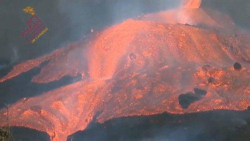 Tsunami-Vergleich: Lava auf La Palma strömt deutlich schneller