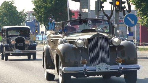 Classic cars take part in 1000km Estonia retro rally