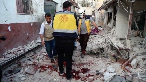 Massive damage to Syrian hospital after shelling