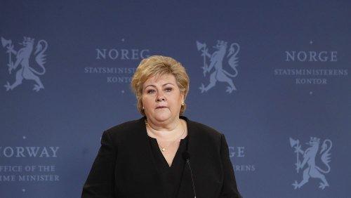 Corona-Party: Strafe für Norwegens Ministerpräsidentin Erna Solberg