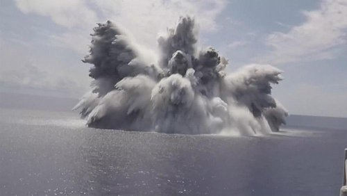 US Navy tests aircraft carrier with explosives