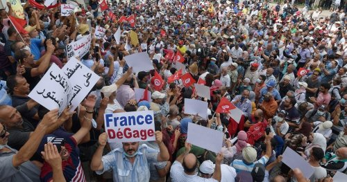 Tunisians protest against President Saied in Tunis   Africanews