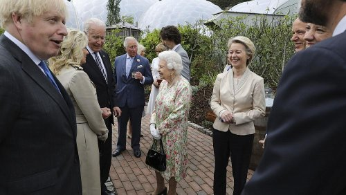 Queen Elizabeth hosts G7 leaders and spouses at Cornwall's Eden Project eco-tourism site