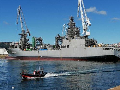 Navantia entrega a la Armada de Australia el primero de los dos buques del tipo AOR