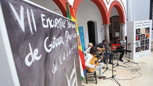 Fotos de la presentación del VII Encuentro Internacional de Guitarra 'Paco de Lucía'