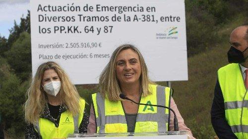 La Junta repara los daños ocasionados por el temporal en la autovía A-381 Jerez-Los Barrios
