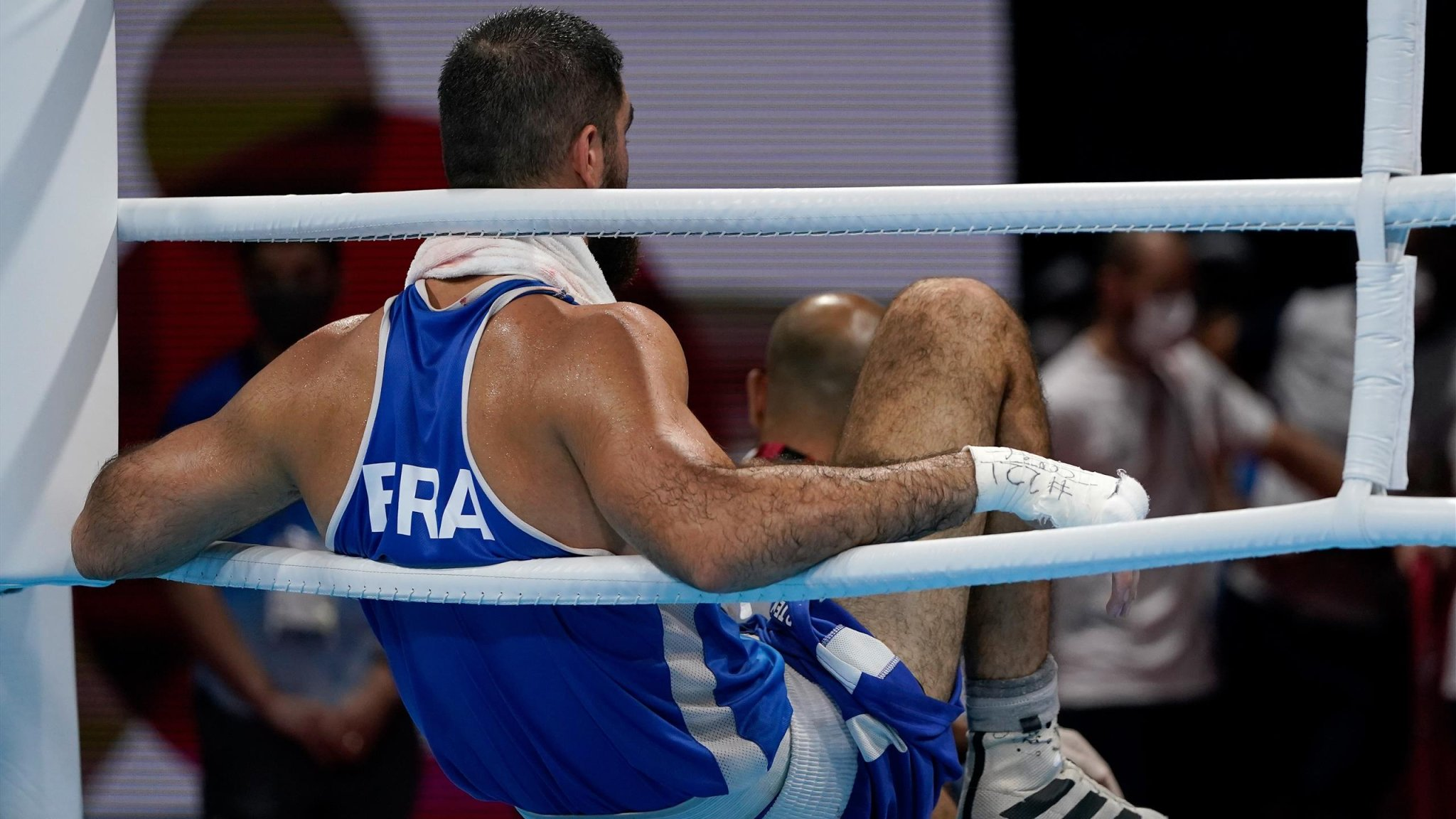Tokyo 2020 - Mourad Aliev stages sit-in protest after disqualification hands GB's Frazer Clarke semi-final spot