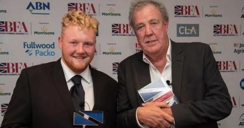 Jeremy Clarkson dedicates top farming award to Kaleb in moving speech