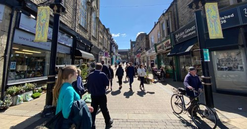 Yorkshire's bustling street chock-full of charity shop bargains
