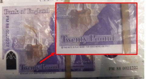 Police warning issued after fake 'poond' notes used at takeaways