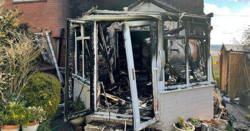 Devastating fire completely destroys Harrogate home