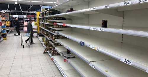 Supermarket shelves could be empty of staple as rationing introduced