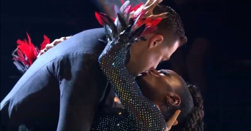 Strictly Come Dancing fans floored as AJ and Kai 'almost kiss'