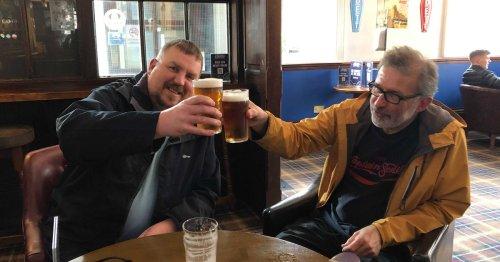 Punters feel 'like kids at Christmas' as Huddersfield pubs open indoors