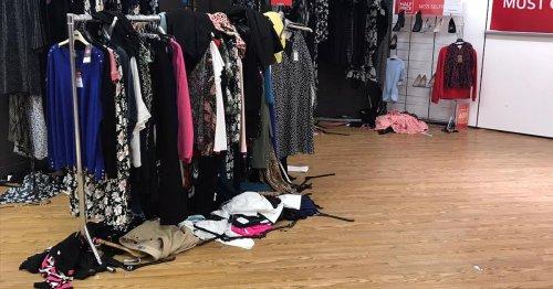 Sheffield Debenhams stripped bare for huge sale as shoppers flood store