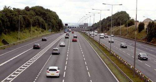 Live as 'abnormal' 133-tonne vehicle travels wrong way down M62