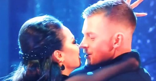 Strictly fans losing their minds after awkward 'almost kiss'