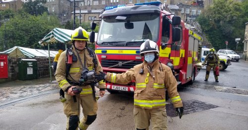 Dramatic pictures as firefighters and police called to 'explosion'