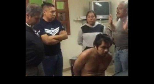 Pobladores atrapan a ladrón e intentan lincharlo en Tlaxcala