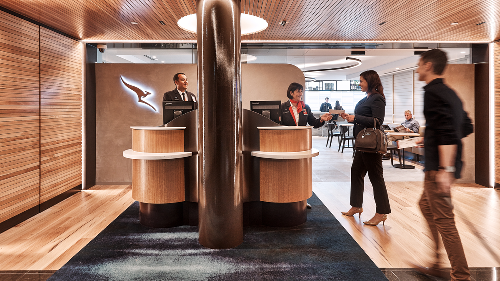 Visiting Qantas' international business class lounge in Brisbane