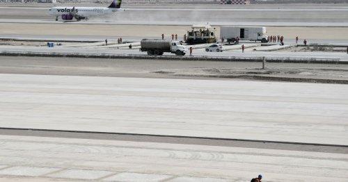 El aeropuerto de Santa Lucía registra un avance de 81% de la inversión total