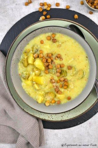Kartoffel-Rosenkohl-Suppe - Experimente aus meiner Küche