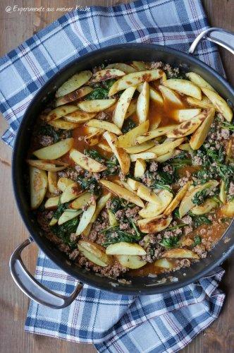 Griechische Hack-Kartoffel-Pfanne - Experimente aus meiner Küche