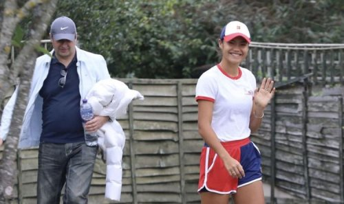 Emma Raducanu pictured in new images as tennis ace beams in sportswear